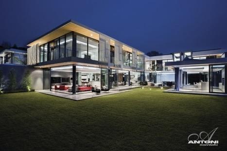 Splendide maison contemporaine par SAOTA - Johannesbourg - Afrique du Sud   Construire Tendance   Scoop.it