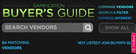 GAMIFICATION VENDORS GUIDE | GAMIFICATE YOURSELF | Scoop.it