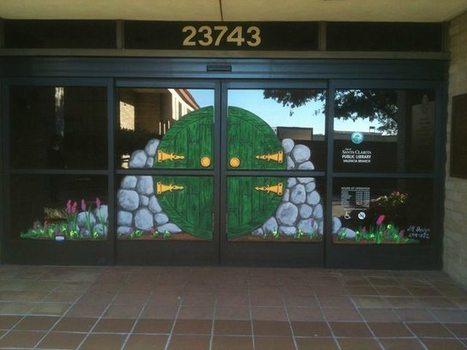 Library Paints Hobbit Door Over Entrance - GalleyCat | Fun in the School Library | Scoop.it