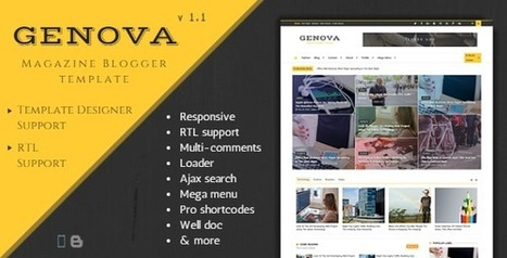 Genova – News & Magazine Responsive Blogger Template - Download full nulled - Software - Script - Theme - Android | Blogger themes | Scoop.it