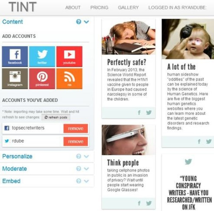Transform Your Social Output Into Web Page Content With Tint | Business in a Social Media World | Scoop.it