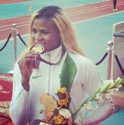 All Gold Err'day: Blessing Okagbare Wins Gold in 100m Race at the CAA Marrakech 2014 | weslee | Scoop.it