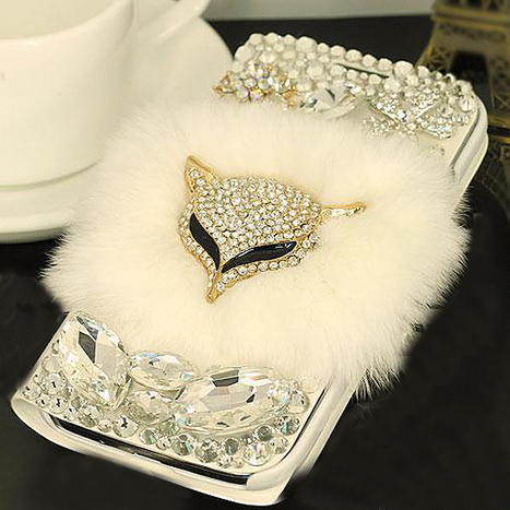 $ 65.99 Best Quality Luxury Genuine Cony Hair Rhinestone Carrying Case for iPhone 4/4S&iPhone 5/5S | bagsq | Scoop.it