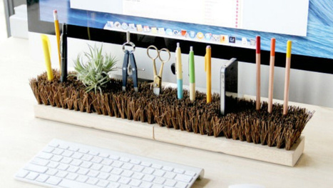 Invert Broom Heads to Organize Your Desk | Nonprofit Management | Scoop.it