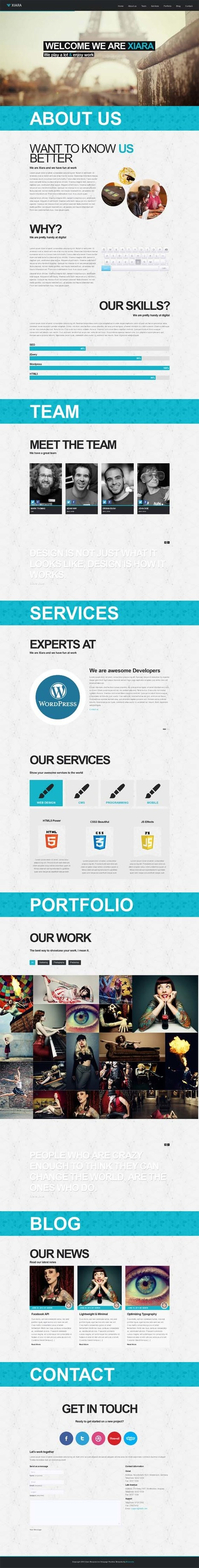 Xiara, WordPress One Page Parallax Theme | WP Download | keeping the ink fresh | Scoop.it