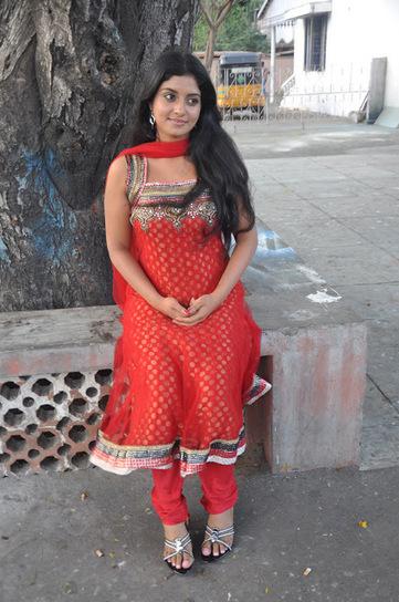 Actress Athmiya in Dark Orange Sleeveless Designer Anarkali Churidar Stills | Fashion Divas | Scoop.it