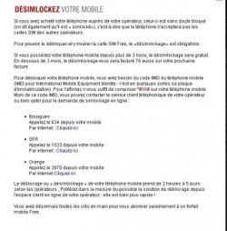Procédure FREE pour désimlocker les mobiles Orange, Bouygues et SFR | BriZaWen | désimlockage de téléphones portables | Scoop.it