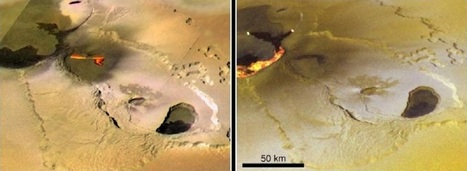 Tvashtar Catena, an active volcanic region on Jupiter's moon Io | Outer Space | Scoop.it