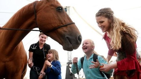 Equine encounter with Cavalia delights blind children | Equestrian Vacations | Scoop.it