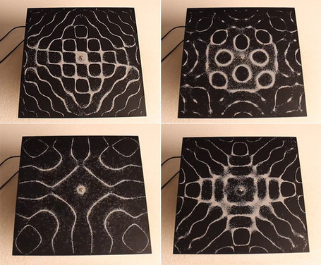 The Visual Patterns of Audio Frequencies Seen through Vibrating Sand | Colossal | What Surrounds You | Scoop.it