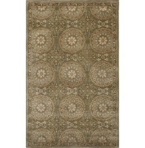 Rugsville Mala Transitional Green Wool Rug 11811 - TRANSITIONAL | Discount Area Rugs | Scoop.it