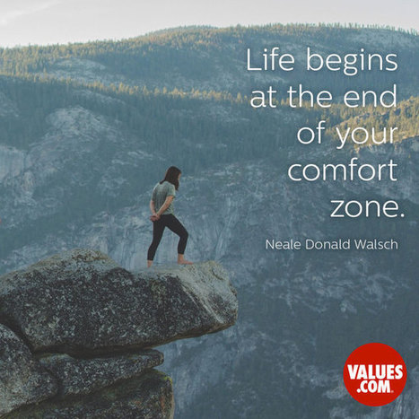 """""""Life begins at the end of your comfort zone."""" 