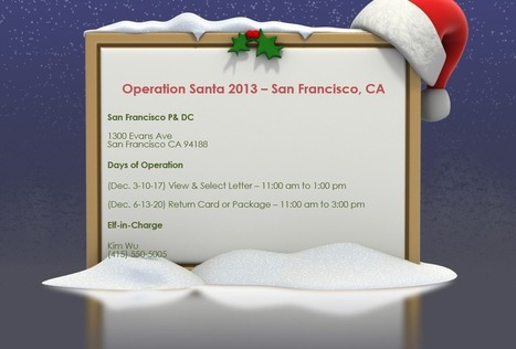 Operation Santa Participating USPS Office List 2013 - San Francisco, CA | Operation Santa Claus - Santa's Blog | Christmas and Winter Holidays | Scoop.it