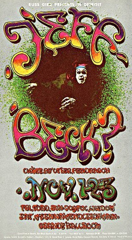Psychedelic Postcards, Grande Ballroom, Detroit 1967/68 | Detroit | Scoop.it