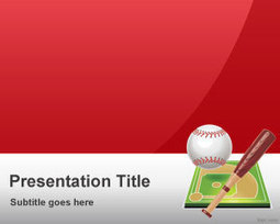 Free Red Baseball PowerPoint Template | Free Powerpoint Templates | baseball | Scoop.it