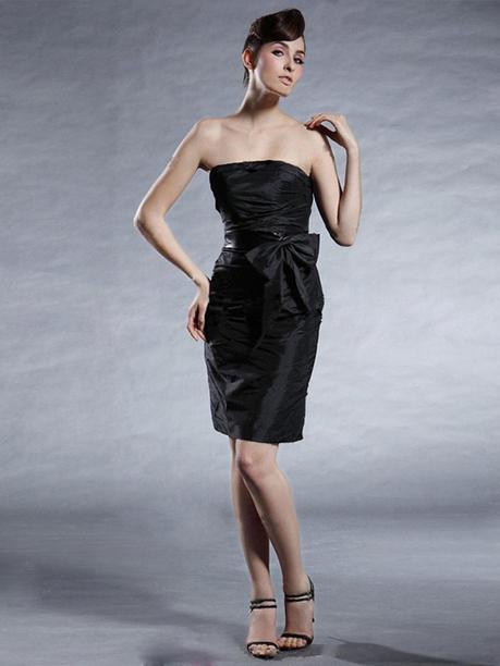Sheath/Column Strapless Taffeta Short/Mini Sleeveless Pleats Prom Dresses at sweetquinceaneradress.com | SWEET 16 DRESSES | Scoop.it