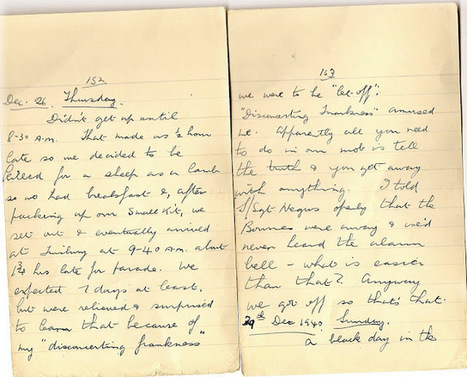 London War Diary: Thursday 26th December 1940 Boxing Day   London War Diary. Original written pages. 1940   Scoop.it