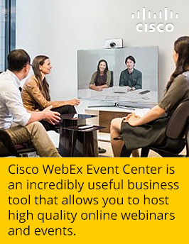 Integrate Cisco WebEx Event Center to Host Online Webinars and Events | Ethernet, MPLS, IP Flex, VoIP, Long Distance Services & more | Scoop.it