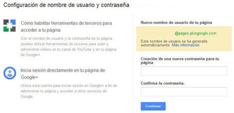 Configurando un nombre de usuario y contraseña independientes para las Páginas en Google+ | Recull diari | Scoop.it