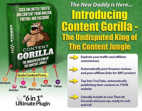 Content Gorilla Review – Best Plugin To Create Unique Content from Amazon, Youtube, Yahoo and Post to Your Wordpress, Blogger, Tumble, and Facebook FanPages Easy   SEO Article   Scoop.it
