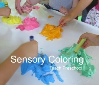 Stirring up colorful designs through sensory coloring | Teach Preschool | Scoop.it