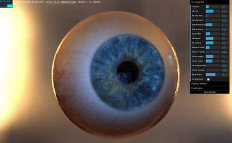 WebGL : animated eye with raytracing, by Artur Vill   my selection of news   Scoop.it
