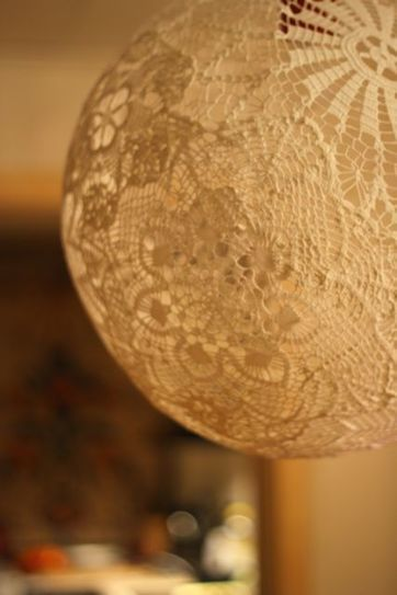 Lace lamp/Doiliy Lamp – DIY | Creative Cables and Lighting Design | Scoop.it
