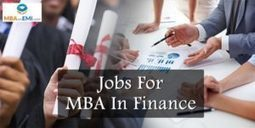 Top 10 Jobs For MBA In Finance | MBA in India | Scoop.it