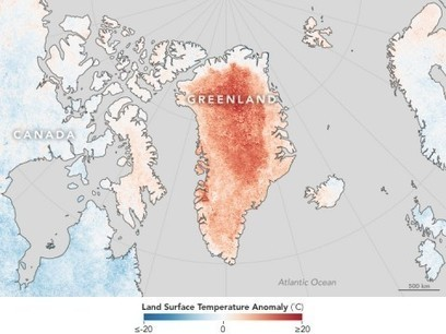 Greenland witnessed its highest June temperature ever recorded on Thursday | All about water, the oceans, environmental issues | Scoop.it