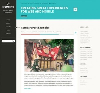 8 Beautiful Free Flat Wordpress Themes   CMS   Scoop.it