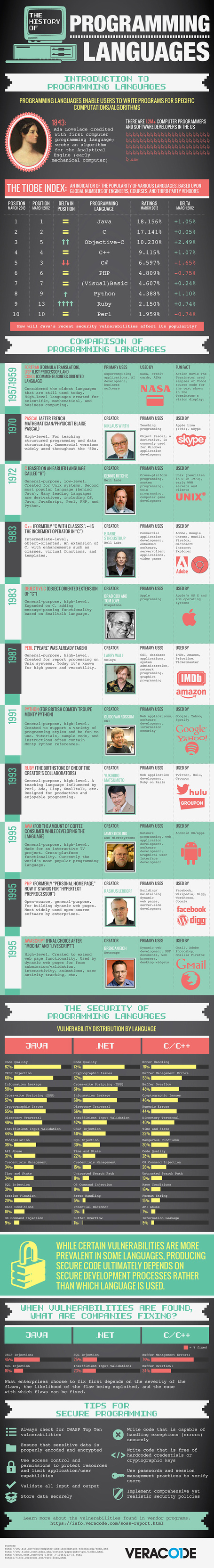 Infographic: The History of Programming Languages | STEM Education models and innovations with Gaming | Scoop.it