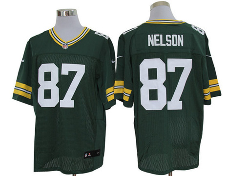 Green Bay Packers #87 Nelson Elite Jersey-Green | discount jerseys and hat | Scoop.it