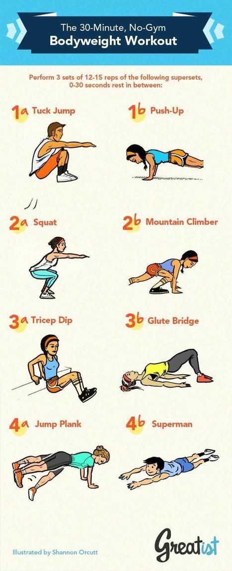 The 30-Minute, No-Gym Bodyweight Workout [Infographic] | En Forme et en Santé | Scoop.it