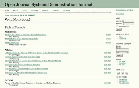 Libraries and Open Journal Systems: Hosting and facilitating the creation of Open Access scholarship | Research Tools Box | Scoop.it