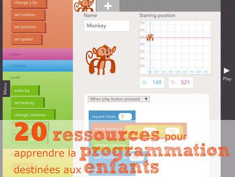 20 ressources pour apprendre aux enfants à PROGRAMMER et CODER | Machines Pensantes | Scoop.it