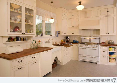 15 Wonderfully Made Vintage Kitchen Designs - Home Design Lover | Kitchens | Scoop.it
