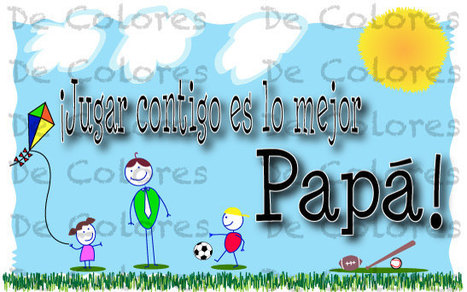 Printable Fathers Day Card - Printable Spanish Father's Day card with game PDF   Celebrity News Photos and Videos   Scoop.it