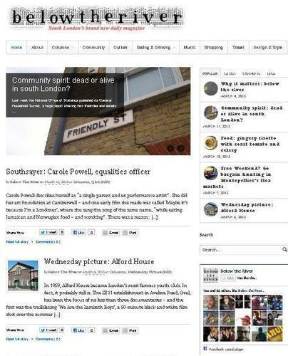 Kentishtowner launches new sister title Below the River - | Hyperlocal and Local Media | Scoop.it