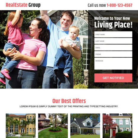 real estate group best deals responsive landing page design | best landing page design | Scoop.it