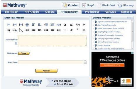 Mathway, realiza online diferentes tipos de cálculos matemáticos | algebra | Scoop.it