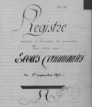 Les registres d'inscriptions dans les écoles | Généalogie facile | GenealoNet | Scoop.it