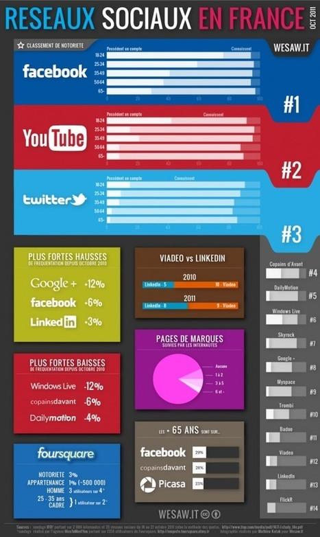 L'infographie du jeudi : les réseaux sociaux en France   Antislash by TBWA\Corporate   Digital me   Scoop.it