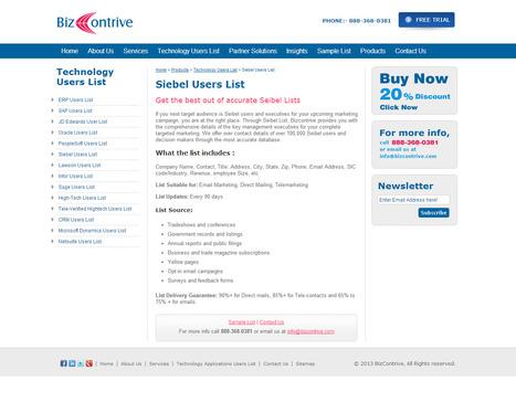 Siebel Users List | Bizcontrive | Scoop.it