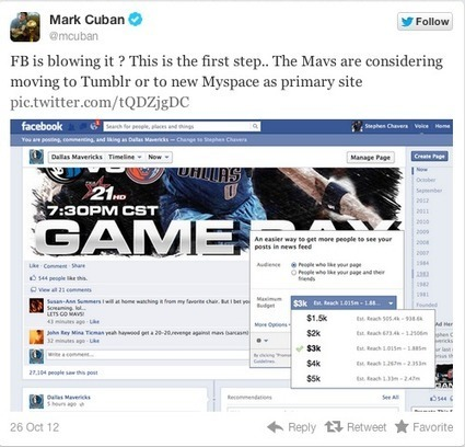 Is Billionaire Mark Cuban's Anger At Facebook Misguided? - AllFacebook | Teens, Youth & Libraries | Scoop.it