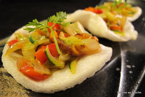 Cuisine en bouche: Beignets de crevettes aux légumes sautés | Cook | Scoop.it