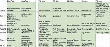 Behind the Scenes – My Low Tech Editorial Schedule : @ProBlogger | ToxNetLab's Blog | Scoop.it