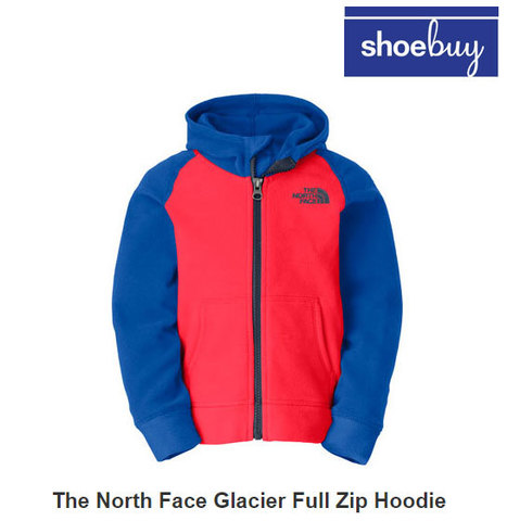 Shoebuy Deals The North Face Glacier Full Zip Hoodie (Infant/Toddler Boys) $26.95 | Coupons chase | Edyta savings and sales world | Scoop.it