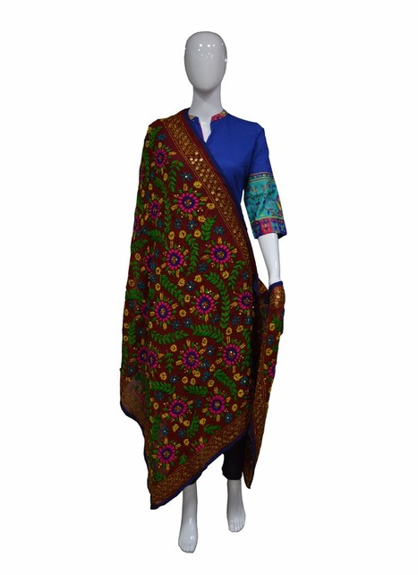 Rustic Phulkari Embroidered Dress | I don't do fashion, I am fashion | Scoop.it