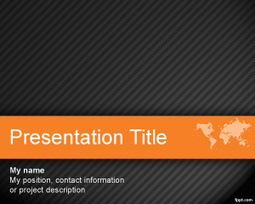 Free Worldmap PowerPoint Template for Business Presentations with Dark Background   Medicine   Scoop.it
