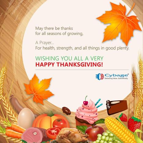Here's wishing you all a very happy Thanksgiving! | Cybage IT News | Scoop.it